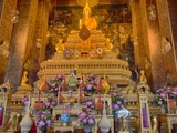 Buddha Staues inside the Wat Pho Temple in Bangkok Photographic Print by Terry Eggers