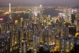 City Skyline from Victoria Peak, Hong Kong, China Fotografie-Druck von Paul Souders