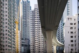 Highway Overpass and Apartment Towers, Hong Kong, China Photographic Print by Paul Souders