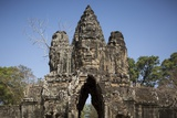 Bayon Temple Gates, Angkor Wat, Siem Reap, Cambodia Photographic Print by Paul Souders