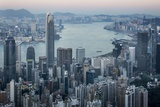 City Skyline from Victoria Peak, Hong Kong, China Photographic Print by Paul Souders