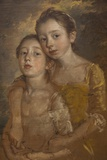 Portrait of Thomas Gainsborough's Daughters with a Cat,The National Gallery,Trafalgar Square Fotodruck von Steven Vidler