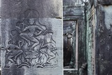 Stone Carvings of Apsaras at Angkor Wat, Cambodia Photographic Print by Paul Souders