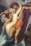 Painting Titled the Fisherman and the Syren ,Bristol Museum and Art Gallery,Bristol Photographic Print by Steven Vidler