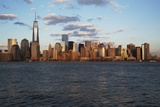 Panoramic View of New York City Skyline on Water Featuring One World Trade Center (1Wtc), Freedom T Photographic Print by Joseph Sohm