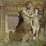 Greek Mythology : the Education of Achilles by the Centaur Chiro Photographic Print
