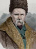 Taras Shevchenko (1814-1861). Ukrainian Poet. Engraving by La Ilustracion Espanola Y Americana, 187 Photographic Print by  Tarker