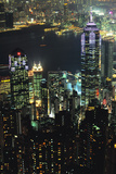Hong Kong at Night Photographic Print by Jon Hicks