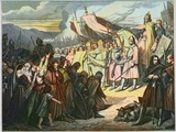 Charlemagne Accepts Wittekind's Surrender in Paderborn Photographic Print by Stefano Bianchetti