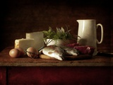 Selection of Cooking Ingredients Which are High in Protein Photographic Print by Steve Lupton