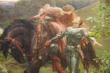 Painting Titled La Belle Dame sans Merci ,Bristol Museum and Art Gallery,Bristol Fotodruck von Steven Vidler