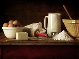 Ingredients and Utensils for Baking Photographic Print by Steve Lupton