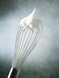 Whisk with Egg-Whites Photographic Print by Steve Lupton
