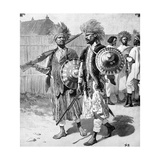Menelik II Guards in Abyssinia or Ethiopia 1903 Giclee Print by Chris Hellier