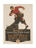 United War Work Fund, Harvard Radios Vs Pricneton Aviators Giclee Print by David Pollack