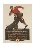 United War Work Fund, Harvard Radios Vs Pricneton Aviators Giclee Print by David Pollack