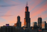 The Willis Tower at Dusk, Chicago. Photographic Print by Jon Hicks
