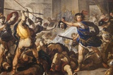 Painting of Perseus Turning Phineas and His Followers to Stone,The National Gallery,Trafalgar Squar Photographic Print by Steven Vidler