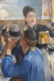 Painting Titled Corner of a Cafe-Concert ,The National Gallery,Trafalgar Square Photographic Print by Steven Vidler