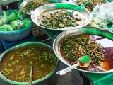 Bankok Food Market with a a Large Variety of Food Choices Photographic Print by Terry Eggers