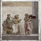 Greek Civilization: Street Musicians of the Cult of Cybele Photographic Print
