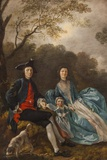 Portrait of Thomas Gainsborough with His Wife and Daughter,The National Gallery,Trafalgar Square Fotodruck von Steven Vidler