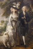 Painting of Mr and Mrs William Hallett,The National Gallery,Trafalgar Square Fotodruck von Steven Vidler