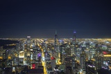 The Chicago Skyline from the John Hancock Center at Night Photographic Print by Jon Hicks