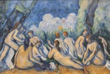Painting Titled Bathers (Les Grandes Baigneuses) ,The National Gallery,Trafalgar Square Photographic Print by Steven Vidler