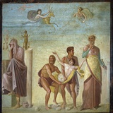 Roman Art : the Sacrifice of Iphigenia Reproduction photographique