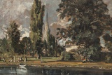 Painting Titled Salisbury Cathedral and Leadenhall from the R,The National Gallery,Trafalgar Square Photographic Print by Steven Vidler