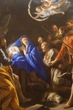 Painting Titled the Adoration of the Shepherds ,The Wallace Collection Museum Fotodruck von Steven Vidler