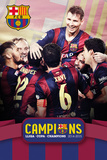 Barcelona Triple Champions 15 Posters