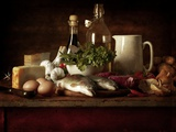 Range of Fresh Ingredients for Cooking Photographic Print by Steve Lupton