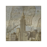 Vintage NYC II Giclee Print by Dylan Matthews