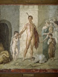 Roman Art : Theseus Freeing the Seven Young People of the Labyri Photographic Print