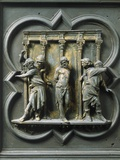 The Flagellation of Christ, by Lorenzo Ghiberti Photographic Print