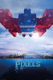 Pixels Galaga Photo