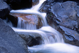 Water Flowing over Rocks in Stream Photographic Print by George D Lepp