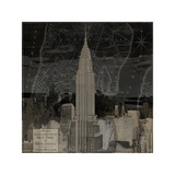 Vintage New York in Black II Giclee Print by Dylan Matthews