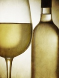 Glass and Bottle of White Wine Photographic Print by Steve Lupton