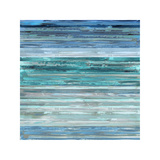 Strata In Aqua Giclee Print by Matt Shields