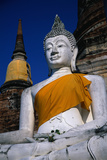 Buddha Statue at Wat Yai Chai Mongkol Photographic Print by Macduff Everton