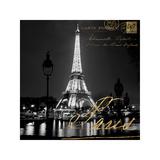 Paris At Night Giclée-Druck von Kate Carrigan