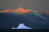 Iceberg in Front of Mountains Photographic Print by  DLILLC