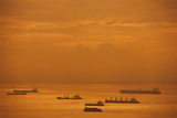 Ships in Singapore Harbor Photographic Print by Macduff Everton