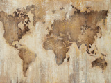Map of the World Prints by Liz Jardine