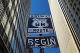 Road Sign at the Start of Route 66, Chicago, Illinois. Photographic Print by Jon Hicks