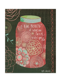 Pink Jar Print by Katie Doucette