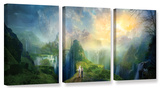 Road To Oalovah, 3 Piece Gallery-Wrapped Canvas Set Gallery Wrapped Canvas Set by Philip Straub